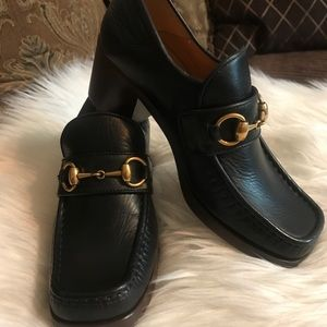 7983154462e Gucci Shoes - Womens Gucci Vegas Black Leather Loafers Size 36!